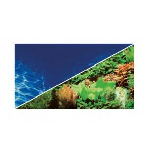 Hobby Fotorückwand-Zuschnitt 'Pflanzen 8/Marin Blue' 60 x 30 cm, doppelseitig, SB