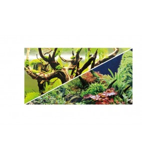 "Hobby Double-sided Backround-pre cut ""Green Secret / Wood Island"" 120x50 cm"