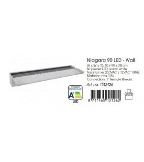 Ubbink Niagara LED 90 sis. Pidempi ulostulo 13x90x33cm