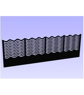 Aqua Connect Ocean Wave Überlaufkamm 480x100 mm