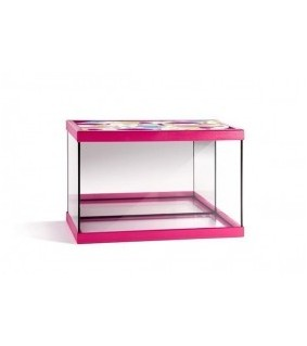 beta acuarios Junior Pink Black 20 L Float Glass