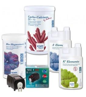 Tropic Marin All For Reef paketti: CarboCalcium + Bio Magnesium + K/A Elements ja Grotech TEC-doser pakettitarjous