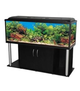 AKWALAND akvaariopöytä musta 150x50x60cm ovilla