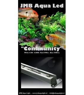 JMB Aqua LED COMMUNITY valkoinen/sininen 18W / 60 cm luonnollinen