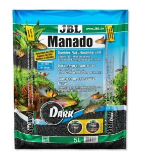 JBL Manado Dark 10L akvaariohiekka musta 0,5-2mm