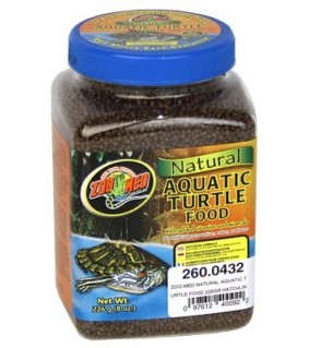 ZOO MED NATURAL AQUATIC TURTLE FOOD 226GR HATCHLIN