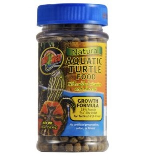 ZOO MED NATURAL AQUATIC TURTLE FOOD 52GR GROWTH FOOD