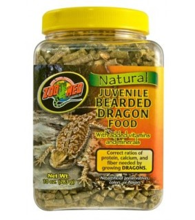 ZOO MED NATURAL JUVENILE BEARDED DRAGONFOOD 283GR