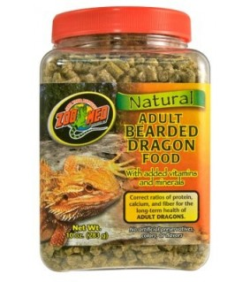ZOO MED NATURAL ADULT BEARDED DRAGON FOOD 283GR
