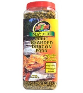 ZOO MED NATURAL ADULT BEARDED DRAGON FOOD 567GR