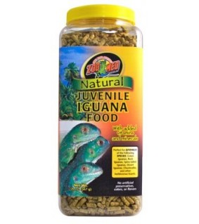 ZOO MED NATURAL JUVENILE IGUANA FOOD 567GR