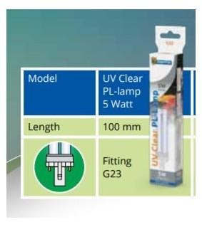 SUPERFISH UV PL LAMP 5 WATT